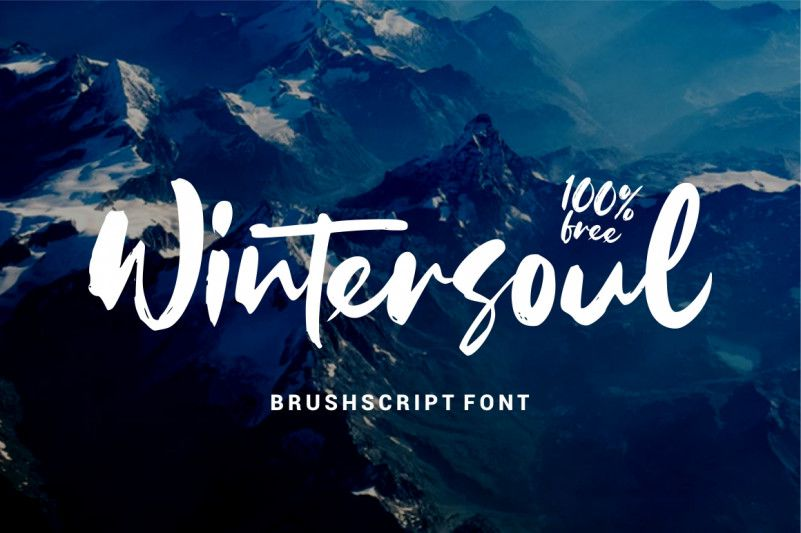 wintersoul-brush-font