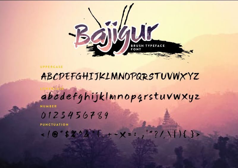 Bajigur-Brush-Font-3