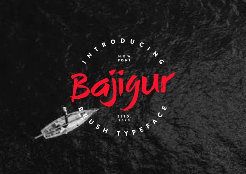 Bajigur-Brush-Font