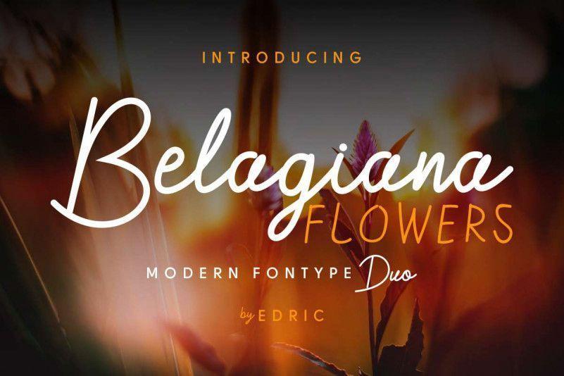 Belagiana-Flowers-Script-Font