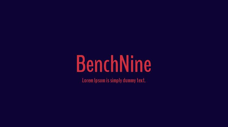 BenchNine-font
