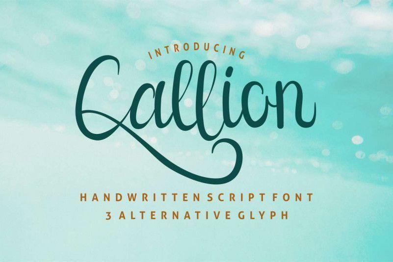 Callion-Calligraphy-Font