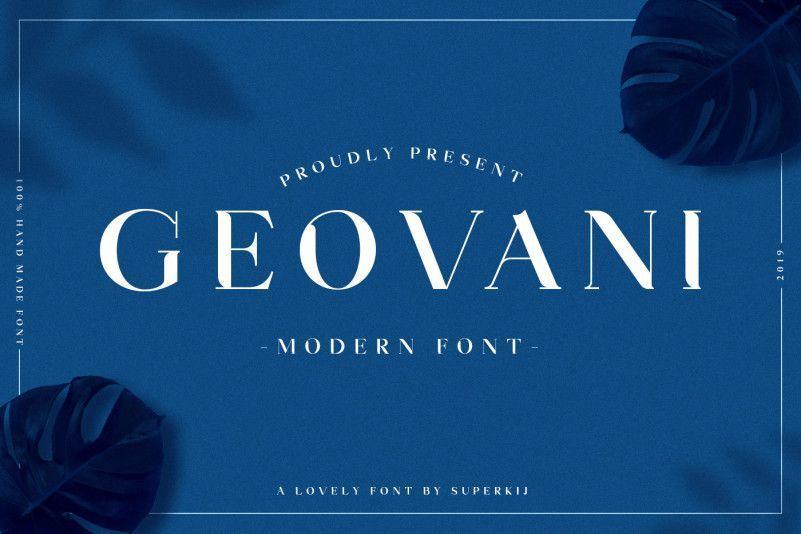 Geovani-Modern-Font