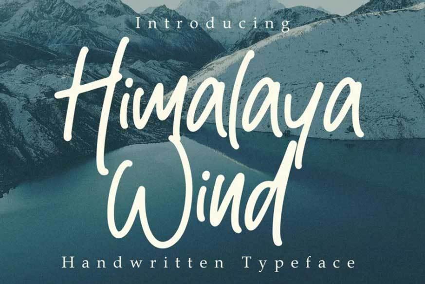 Himalaya-Wind-Font