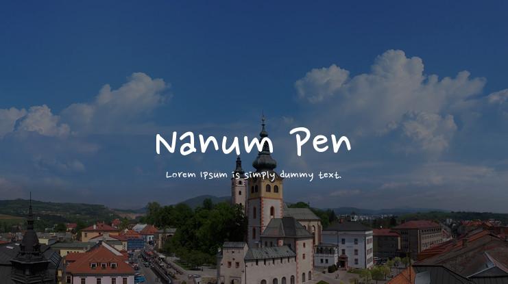 Nanum Pen Script
