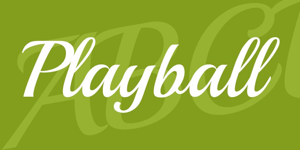Playball Font-1