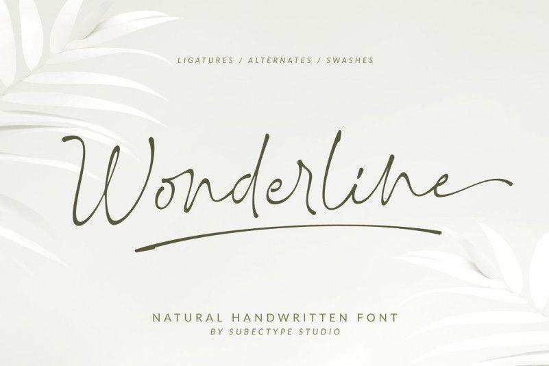 Wonderline-Font