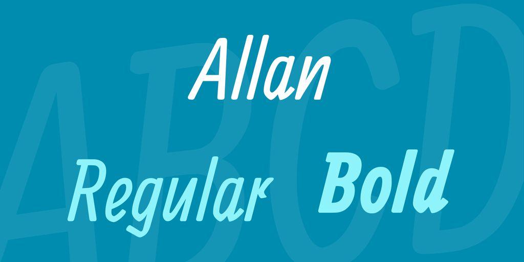 allan-font