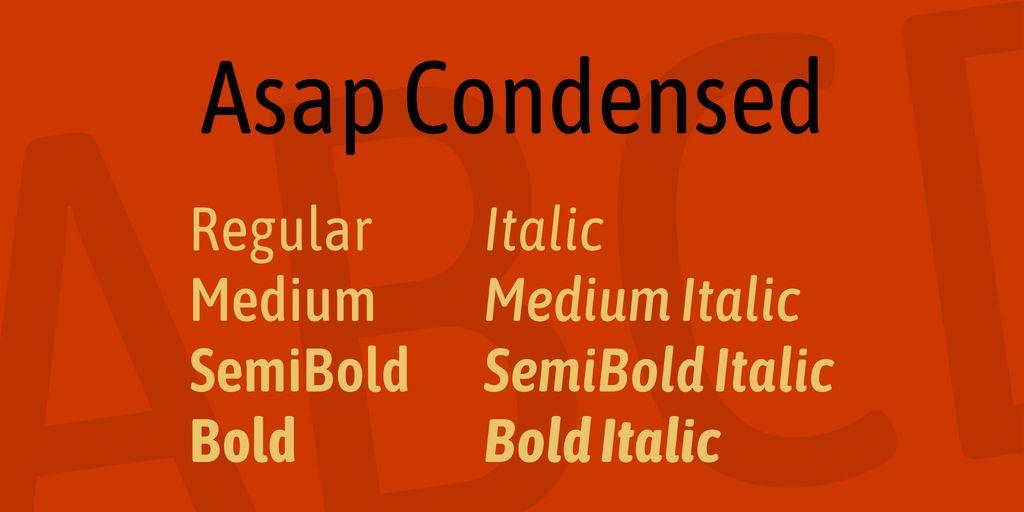 asap-condensed-font