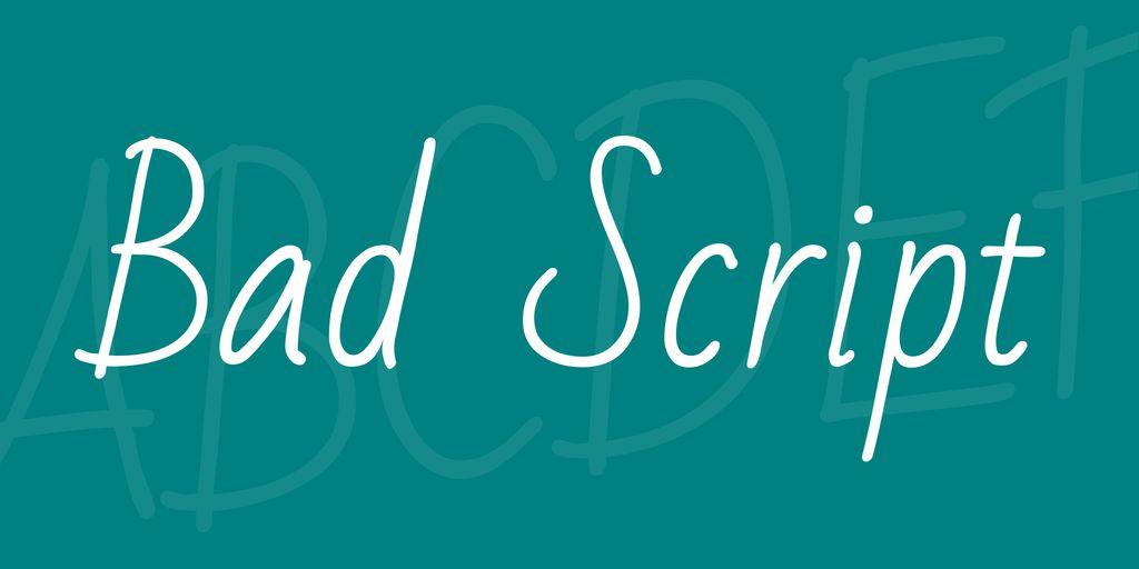 bad-script-font