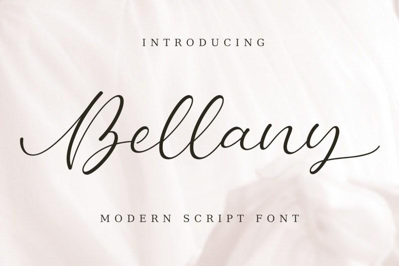 bellany-modern-script-font