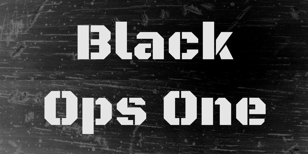 black-ops-one-font