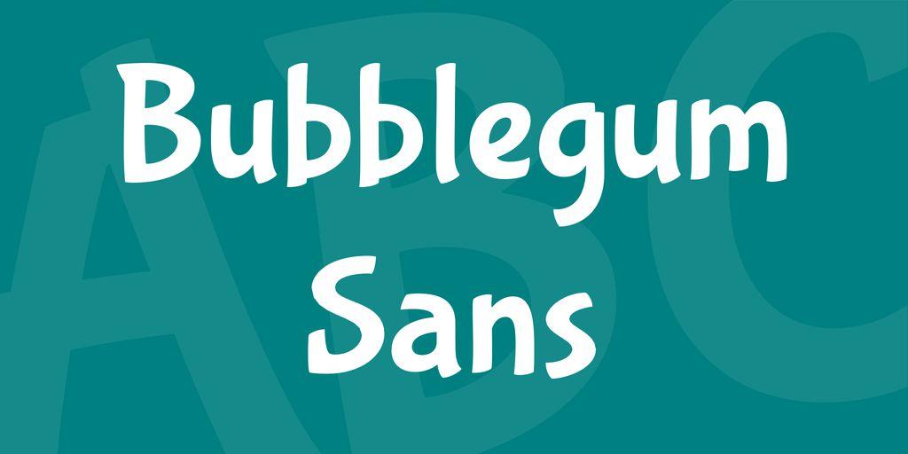bubblegum-sans-font