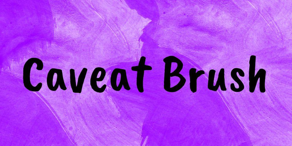 caveat-brush-font