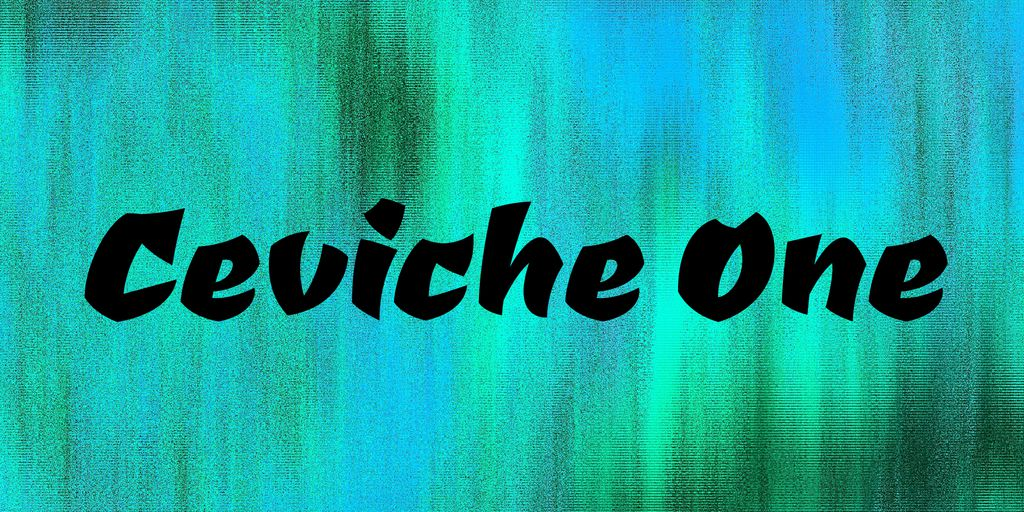 ceviche-one-font