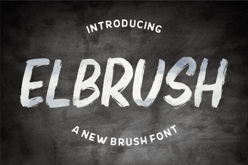 elbrush-font