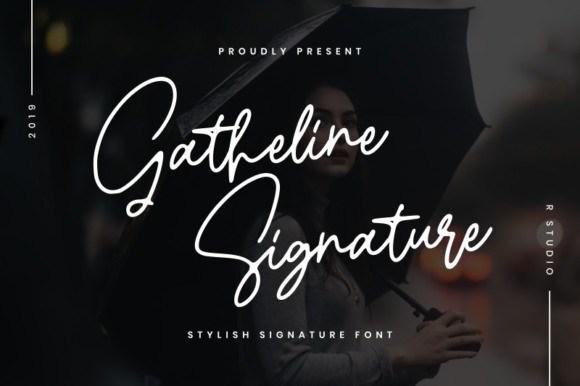 gatheline-signature-font