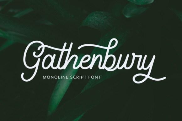 Gathenbury Script Font