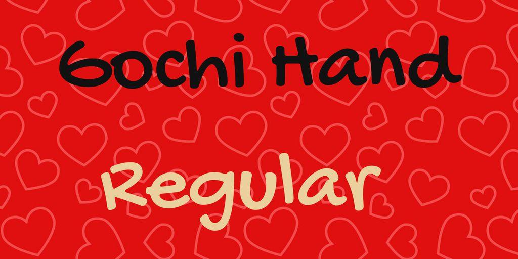 gochi-hand-font