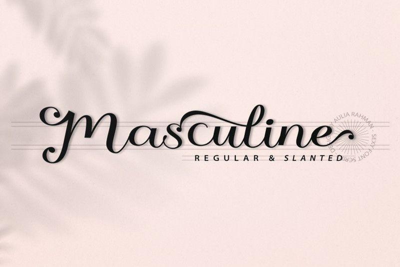 masculine-font