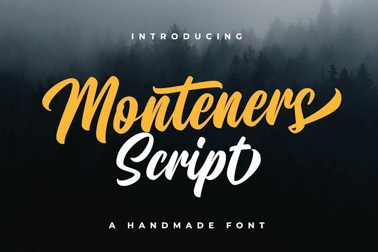 monteners-script-font