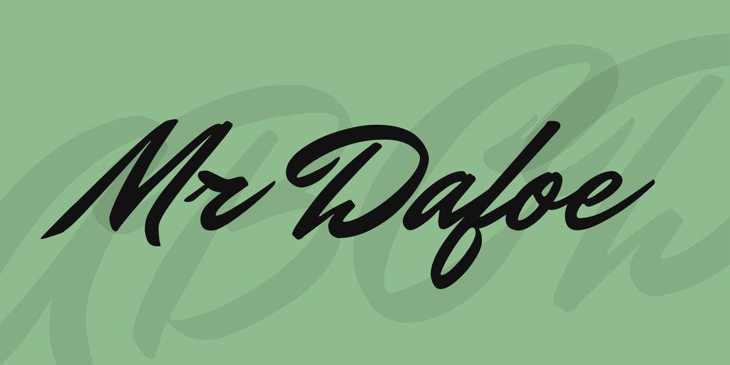 mr-dafoe-font
