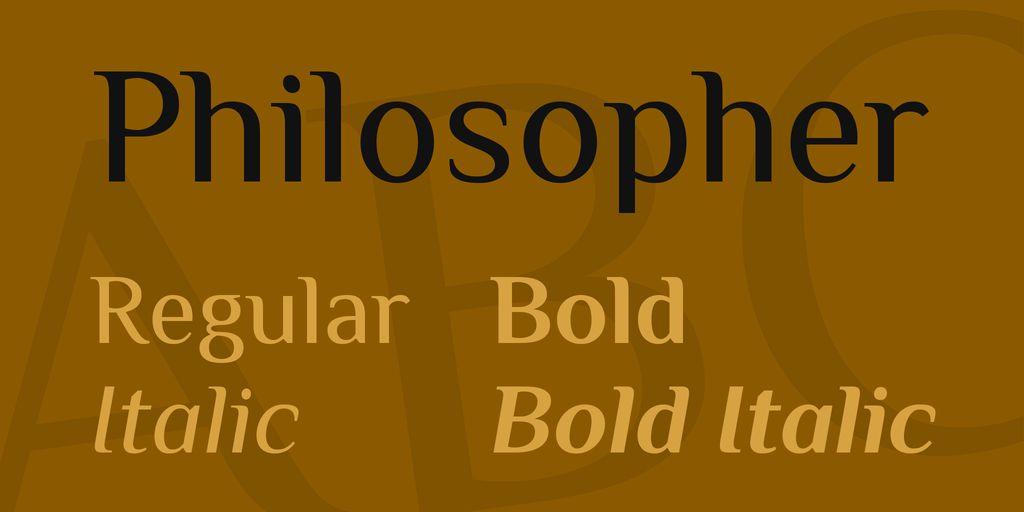 philosopher-font