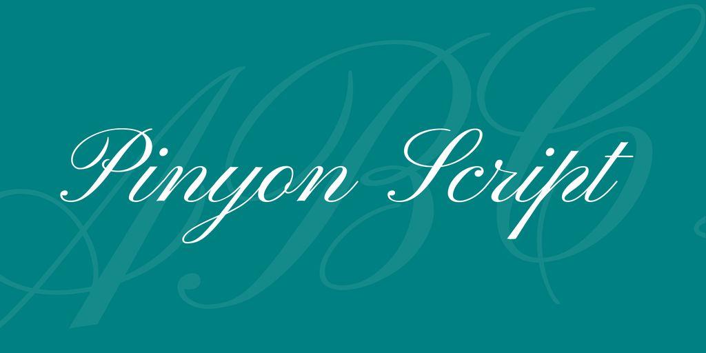 pinyon-script-font