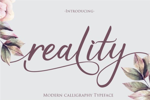 Reality Font