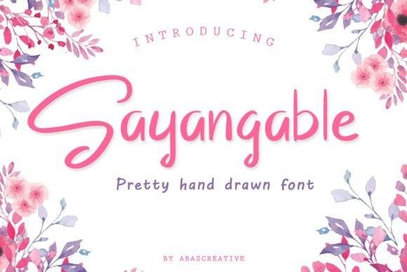 sayangable-font-1