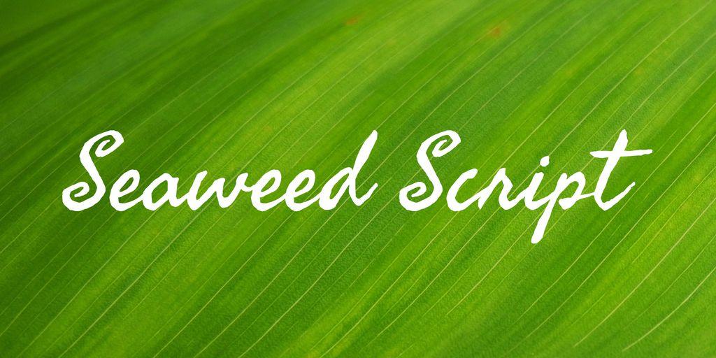 seaweed-script-font