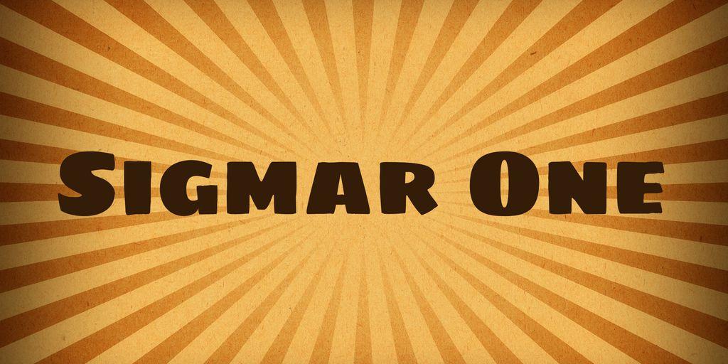 sigmar-one-font