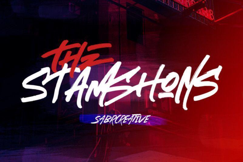 the-stamshons-brush-font