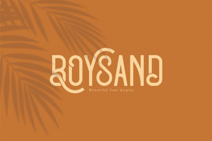 Boysand-Display-Font