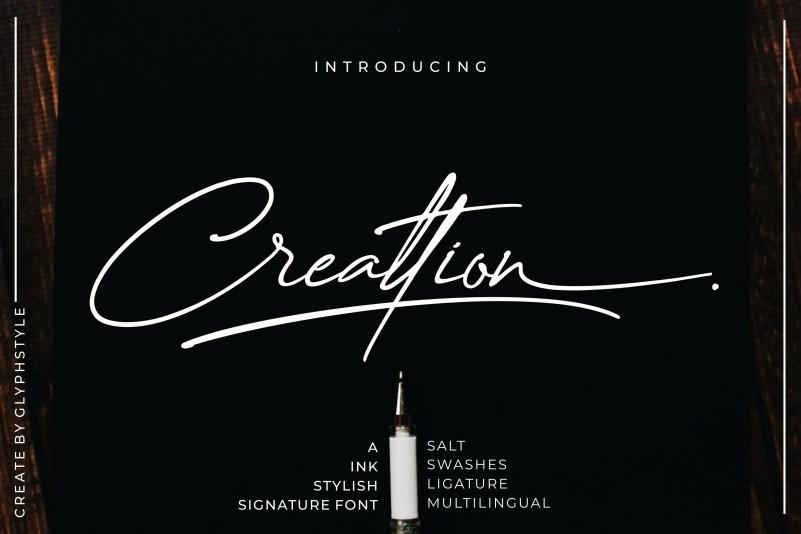 Creattion-Signature-Font