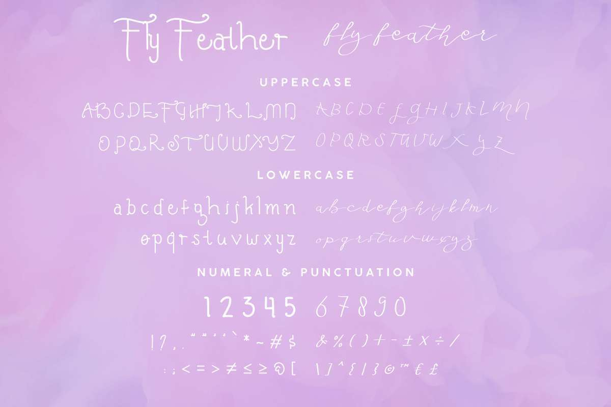 Fly-Feather-Font-3