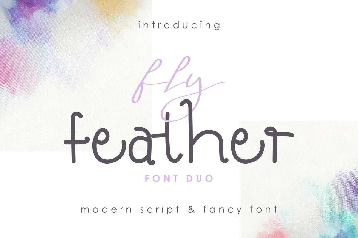 Fly-Feather-Font