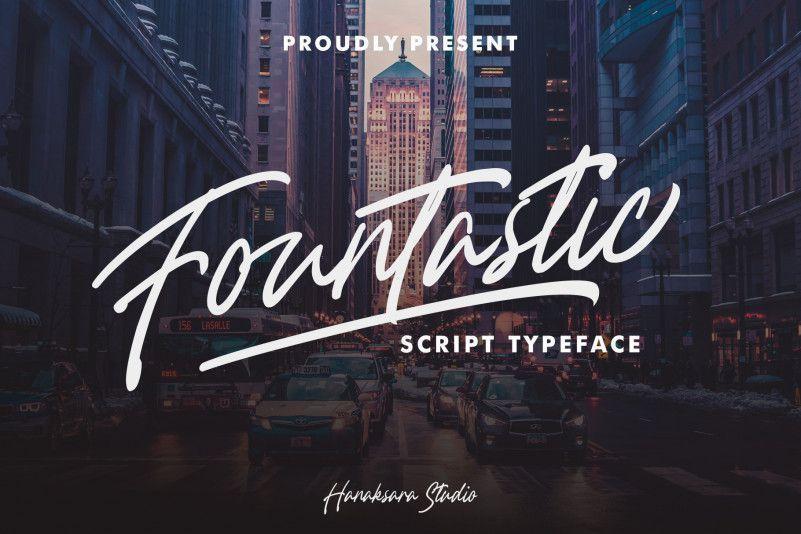 Fountastic-Script-Font