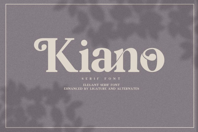 Kiano-Free-Serif-Font