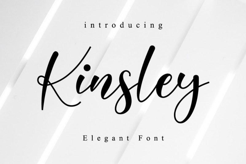 Kinsley-Calligraphy-Font