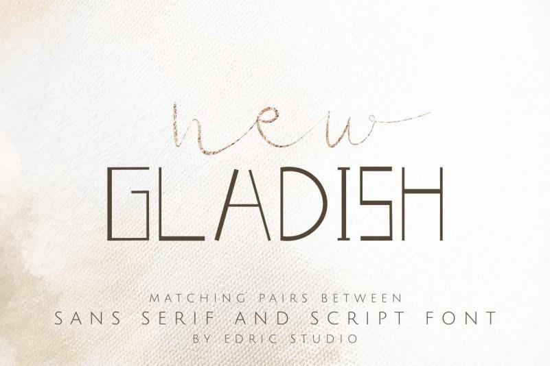 New-Gladish-Font-Duo