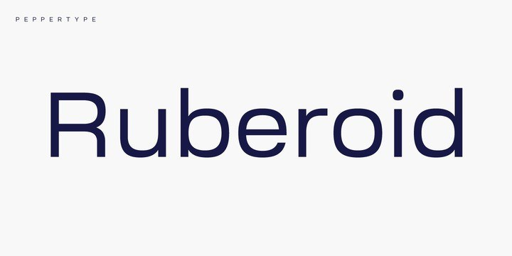 Ruberoid-Sans-Font