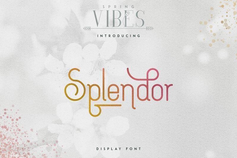 Splendor-Display-Font