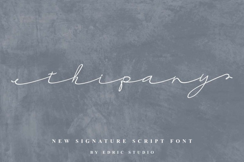 Thipany-Signature-Font