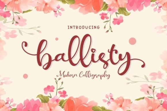 Ballisty Calligraphy Font