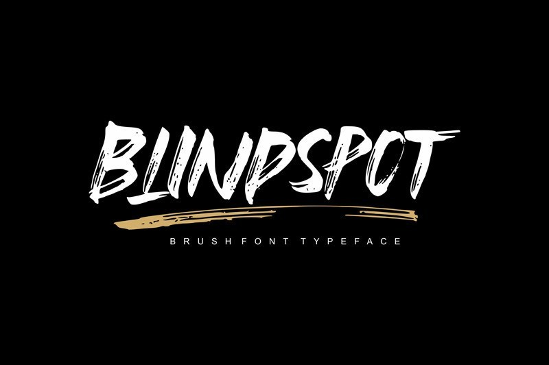 blindspot-brush-font