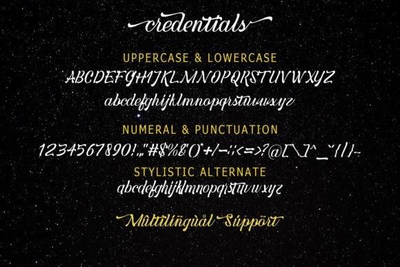 credentials-script-font-2