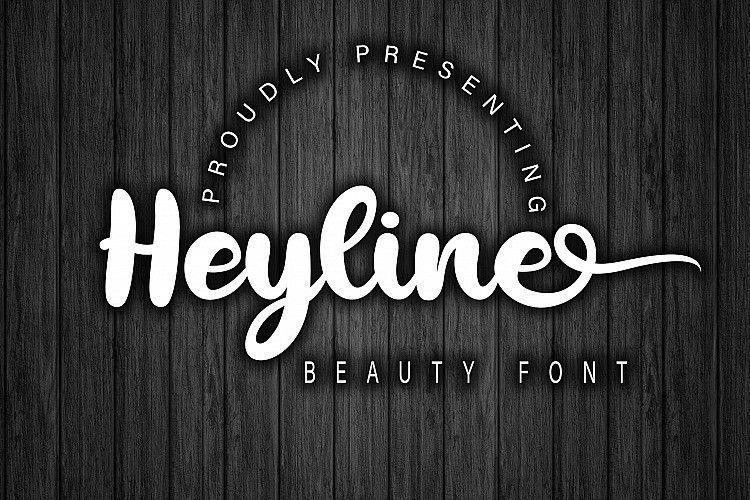heyline-bold-script-font