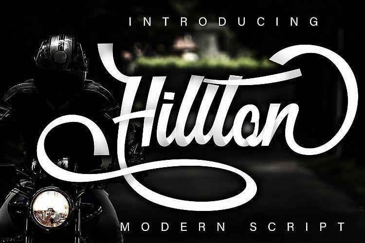 hillton-modern-script-font