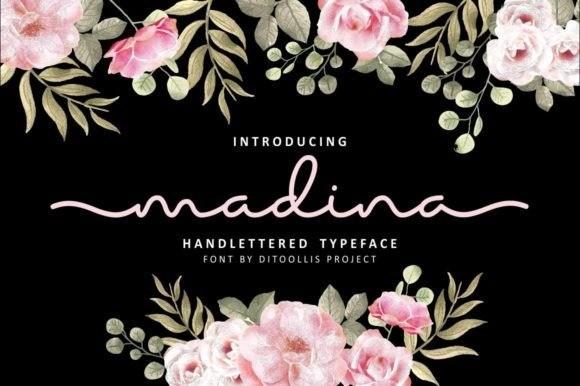 Madina Monoline Font